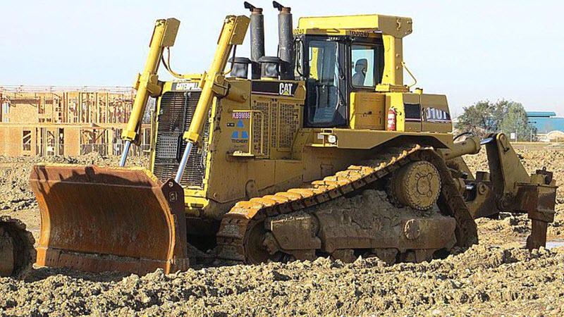 Бульдозер для строительных работ
